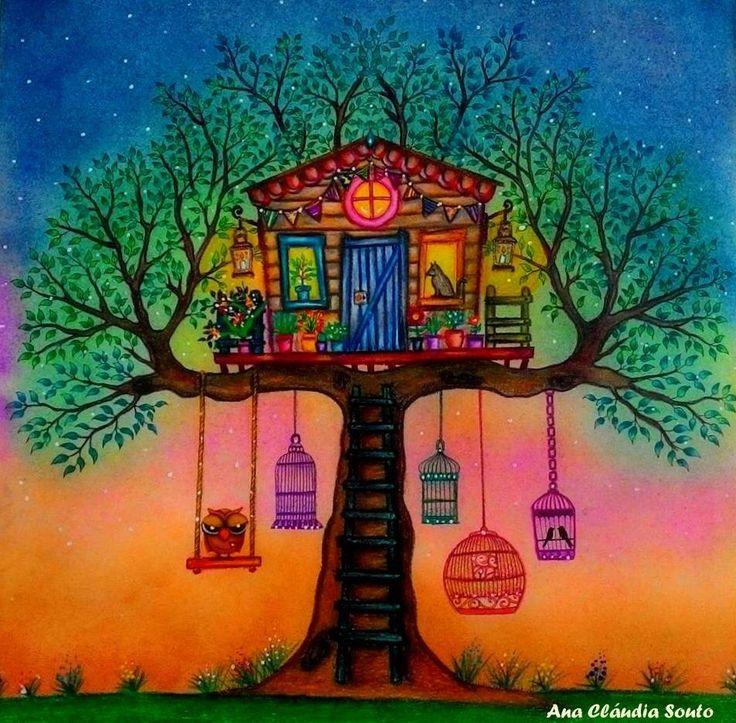 Coloring Ideas Treehouse Secret Garden BookAdult ColoringColoring BooksColoring PagesGel PensJohanna