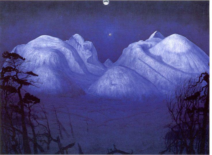 Vinternatt i Rondane –  Harald Sohlberg