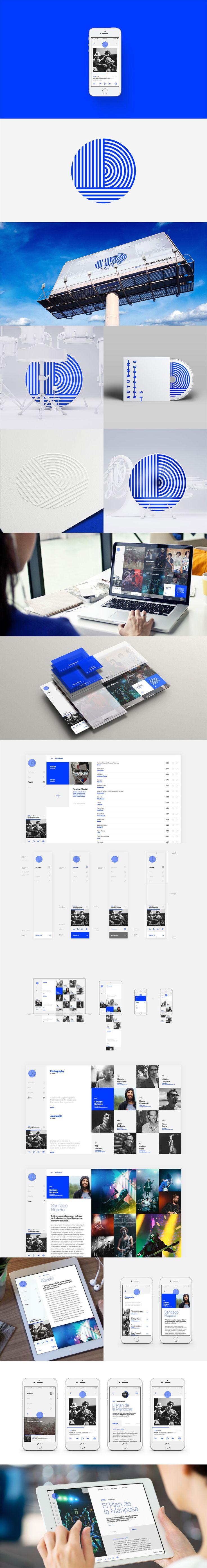 Portband Identity & Platoform by Donhkoland #Design #Platform #InteractionDesign #UI #App #Blue #Branding #Music #MusicReleases #Brand #Band