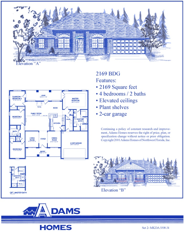 The Adams Homes 2,169. Shown in all brick. Also available