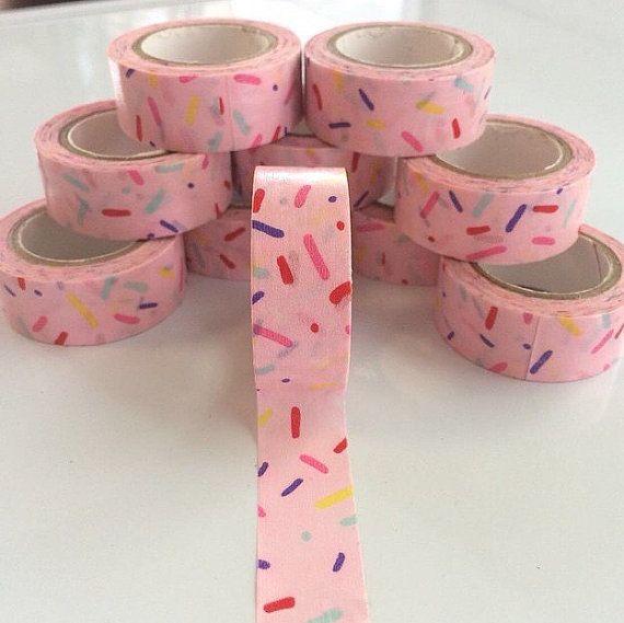 1 rotolo di nastro di Washi Sprinkle rosa 15 mm x 5 m