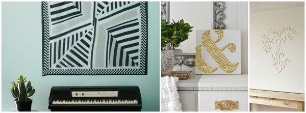 7 super-creative DIY wall art ideas - Easy idea to make canvas art when you don't have the best artistic abilities