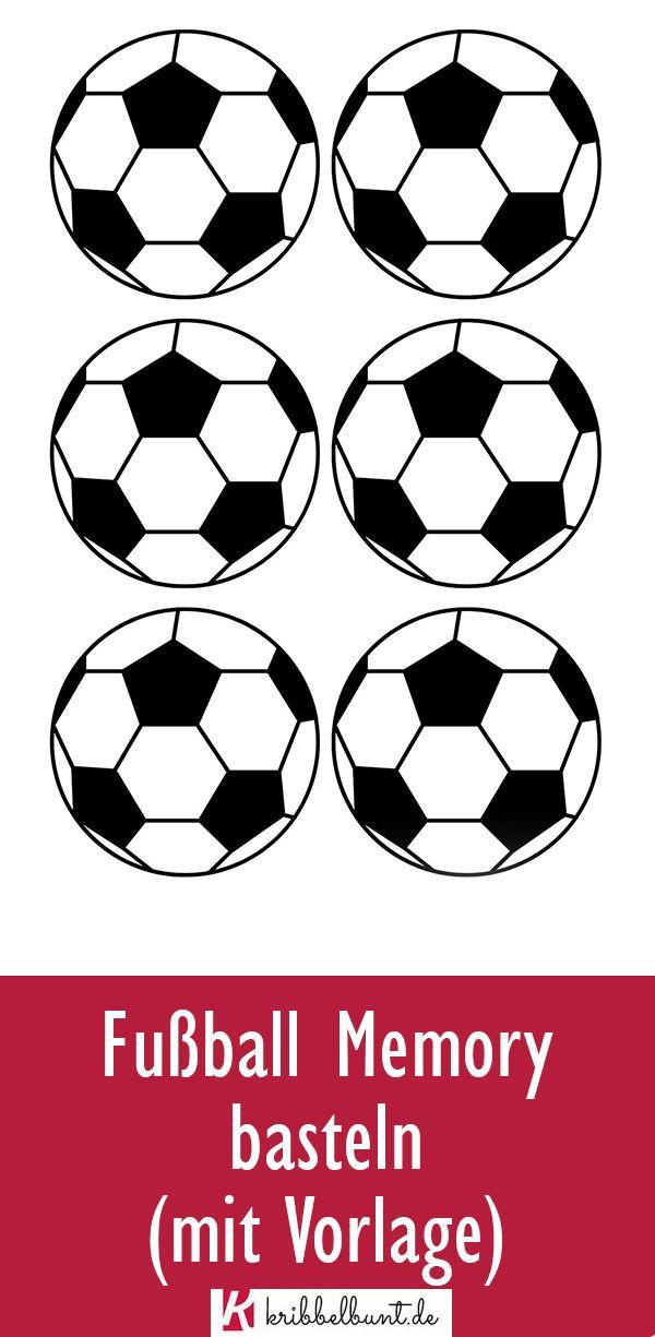 Fussball Memory Mit Fussballspielern Basteln Mit Vorlage In 2020 Memory Selbst Gestalten Vorlagen Memory Selber Machen