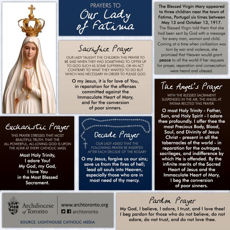 Our Lady of Fatima, pray for us!