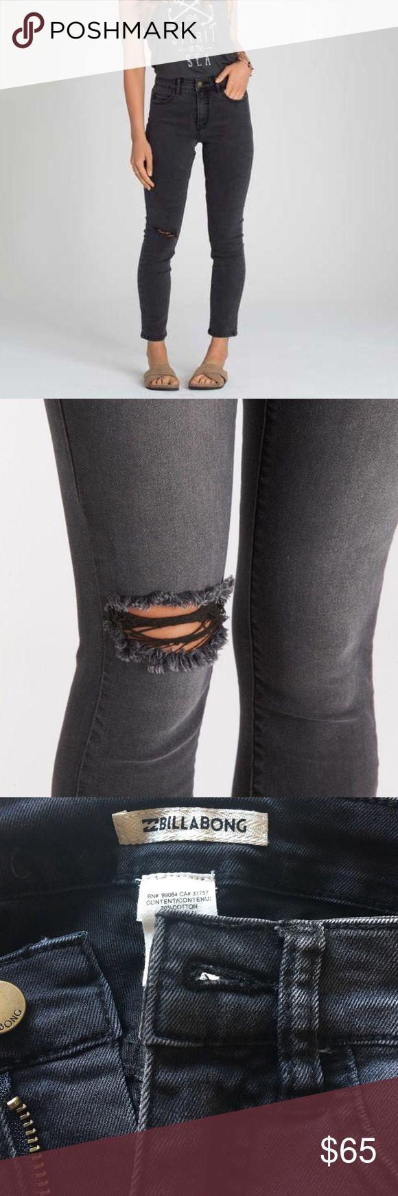Billabong-HOT MAMA SKINNY DENIM NWT! Distressed skinny jeans! Billabong Jeans Skinny