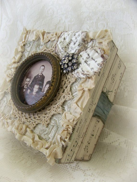 Handmade Cottage White Vintage Style Altered Box Shabby by QueenBe