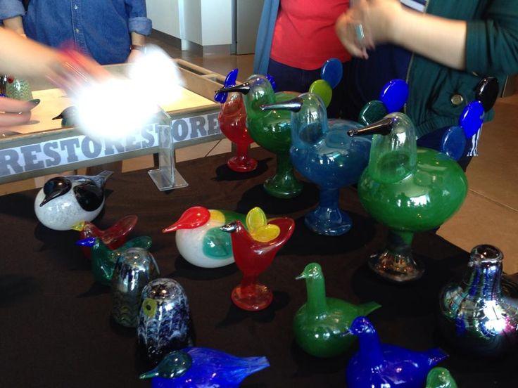 2014, Oiva Toikka, Bird Lovers' Weekend, Museum of Glass, Tacoma, WA, selling table