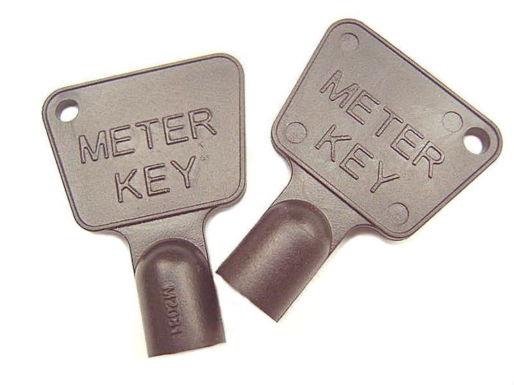 2 X METER BOX KEYS FOR GAS OR ELECTRIC UTILITY CUPBOARD BLACK PLASTIC TRIANGLE.