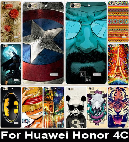 Corlorful Soft TPU & Hard PC Painted Phone Case For Huawei Honor 4C C8818 5.0 inch Honor5 Housing Cover Back Shell Skin Shield - US $1.58 - 1.98