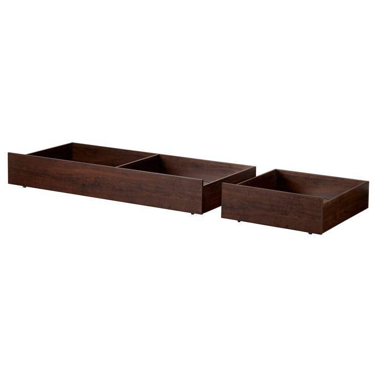 Brusali Underbed Storage Box Set Of 2 Brown