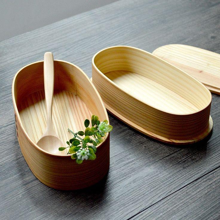 bento box Formato: 19*10*10 cm Materiale: legno di frassino Peso: circa 420g