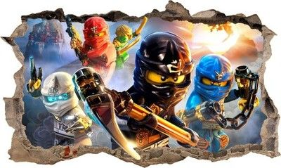 Naklejka Plakat na ścianę LEGO NINJAGO 3D XL