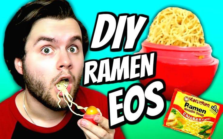 DIY Ramen Noodle EOS! | How To Make Ramen Soup Into EOS Lip Balm Tutorial!
