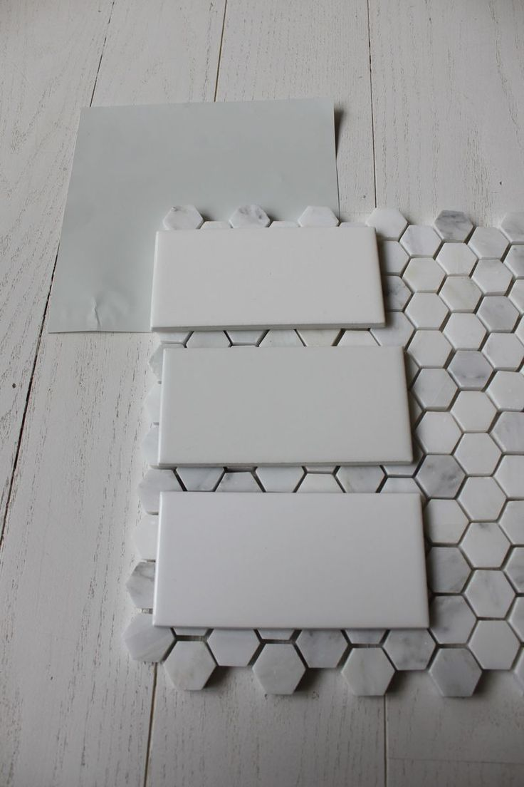 Best 25 hex tile ideas on pinterest subway tile bathrooms benjamin moore wickham gray with subway tile hex floor tile we are halfway there dailygadgetfo Images