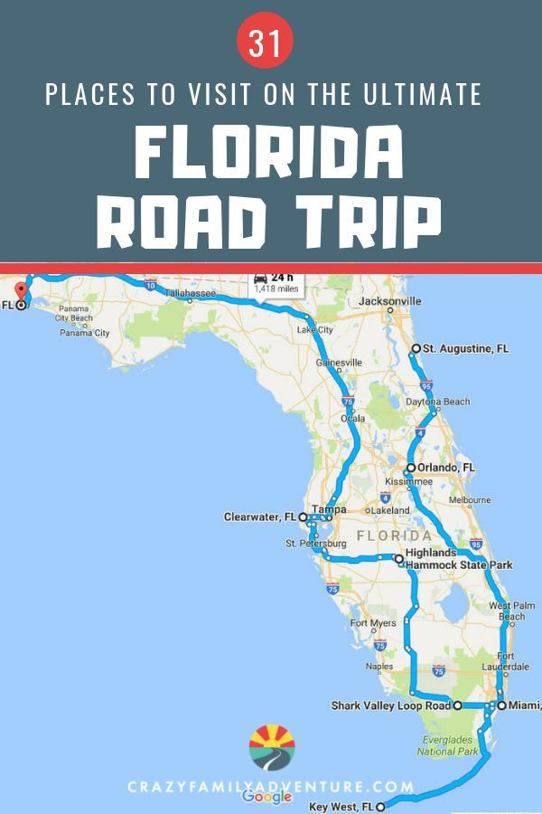 Florida Road Trip 31 Amazing Places You Won T Want To Miss Road Trip Florida Florida Travel Road Trip