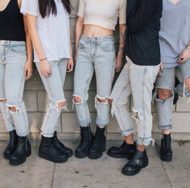 Dark blue skinny jeans outfits tumblr
