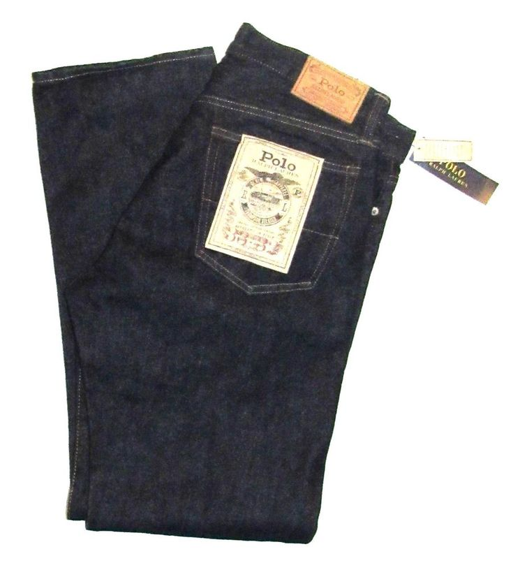 Polo Ralph Lauren Thompson Relaxed Blue Rinsed Jeans 33x32 #PoloRalphLauren #Relaxed