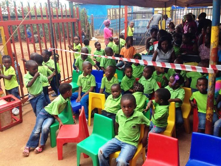 Graduation Day for the 5-year-old children from Mokgaetsi Day Care Centre in the informal settlement of Brazzaville in township Atteridgeville, South Africa.