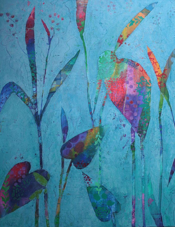 """""""heron"""" acryl by Ingrid Peulen"""