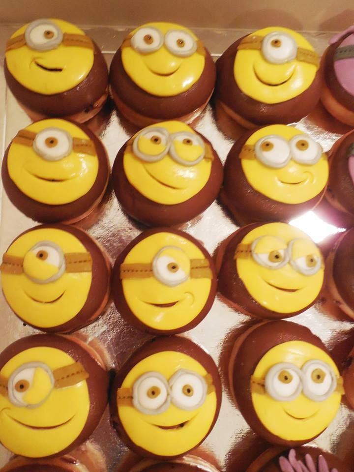 sugar paste minion donuts with hazelnut praline filling