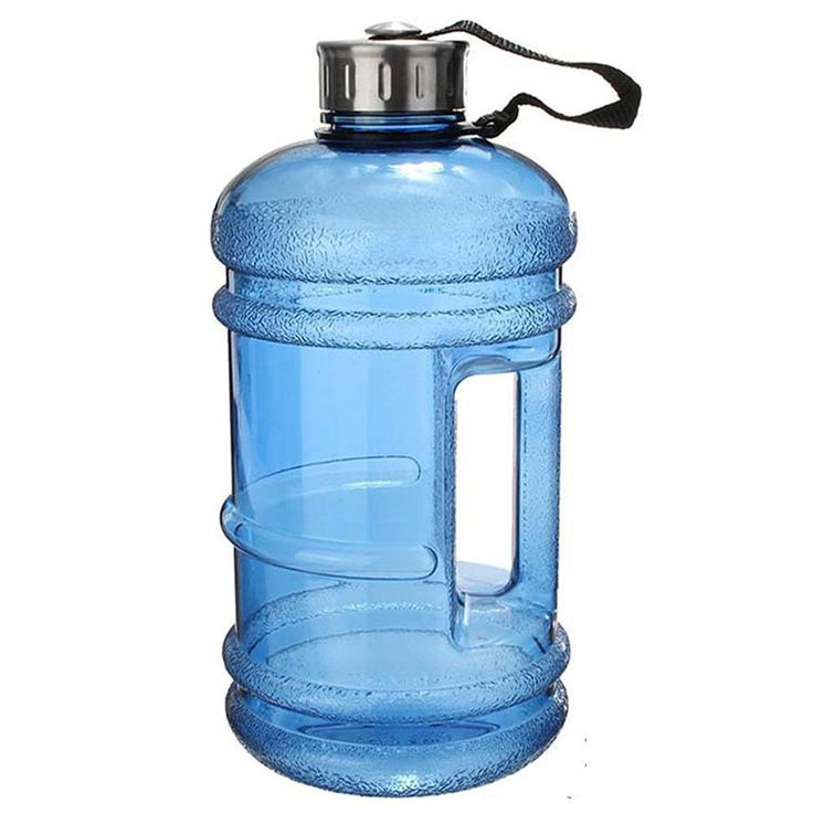 2.2 Liter Water Sports Bottle with built in Handle - 7 Colors - Sports - Gym - Fitness Training - Camping - Workout - 1/2 Gallon