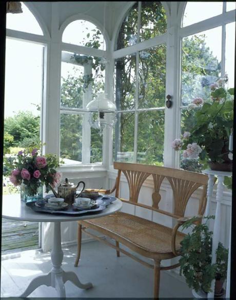 tea time on the veranda