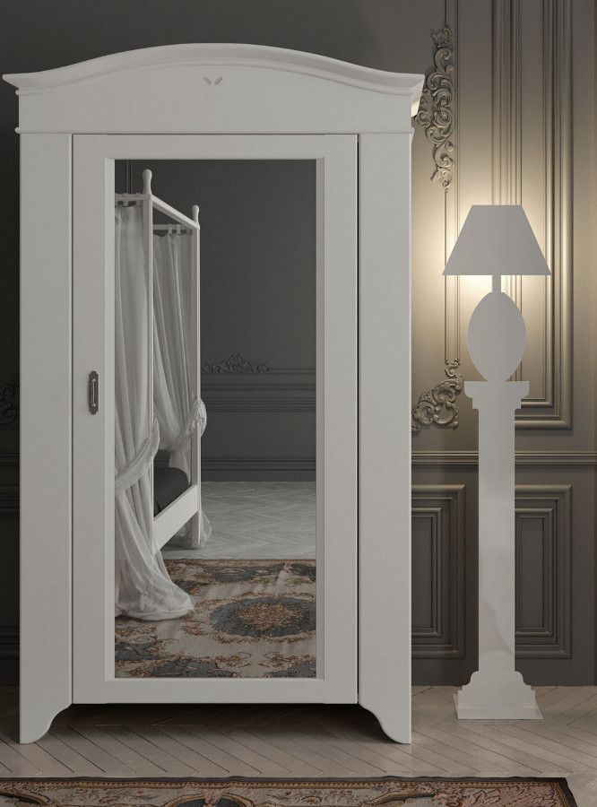 Mirrored solid wood wardrobe SEGURET by Minacciolo #bedroom