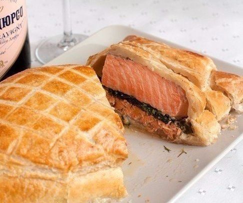 Salmon Baked In Pastry Recipe