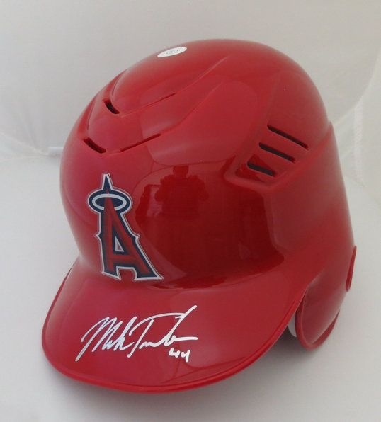 Mark Trumbo Signed Anaheim Angels Baseball Batting Helmet MLB COA