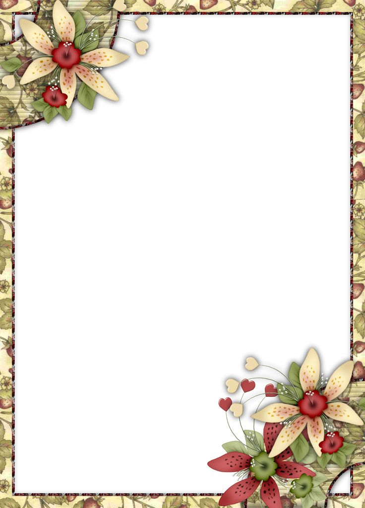 Flowers: Free Printable Frames or Cards.