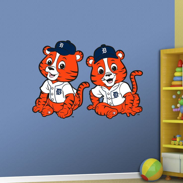 Detroit Tigers Baby Mascot REAL.BIG. Fathead Wall Graphic | Detroit Tigers Wall Decal | Sports Décor | Baseball Nursery/Kid's Room