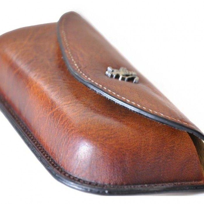 "Pratesi ""Custodia"" gift item eyeglass leather case"