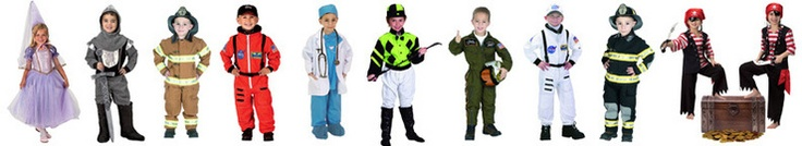 Aeromax - Some phenomenally detailed, high-quality costumes, available in sizes from infant to adult.  We got the astronaut costume at the Smithsonian Air & Space Museum gift shop and were thoroughly impressed with it.