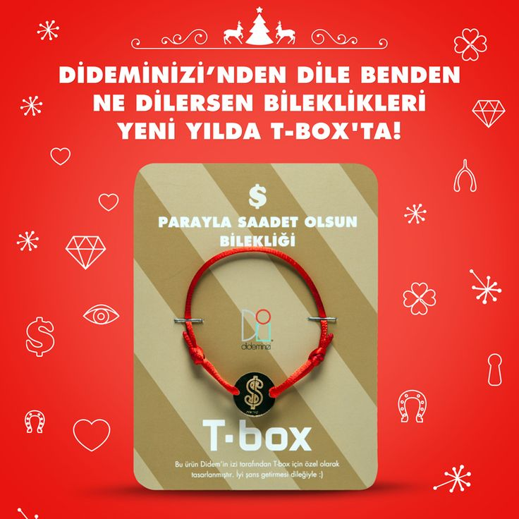 """Didemin İzi for T-box! Yeni yılda """"parayla saadet olsun"""" bilekliği #dideminizi #dideminizifortbox #aksesuar #bileklik"""