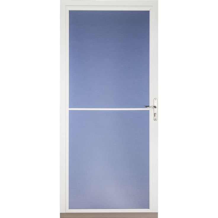 White Full View Tempered Gl Retractable Screen Storm Door Common 32 In X 81 Actual 31 75 79 875 For The Home Pinterest Doors