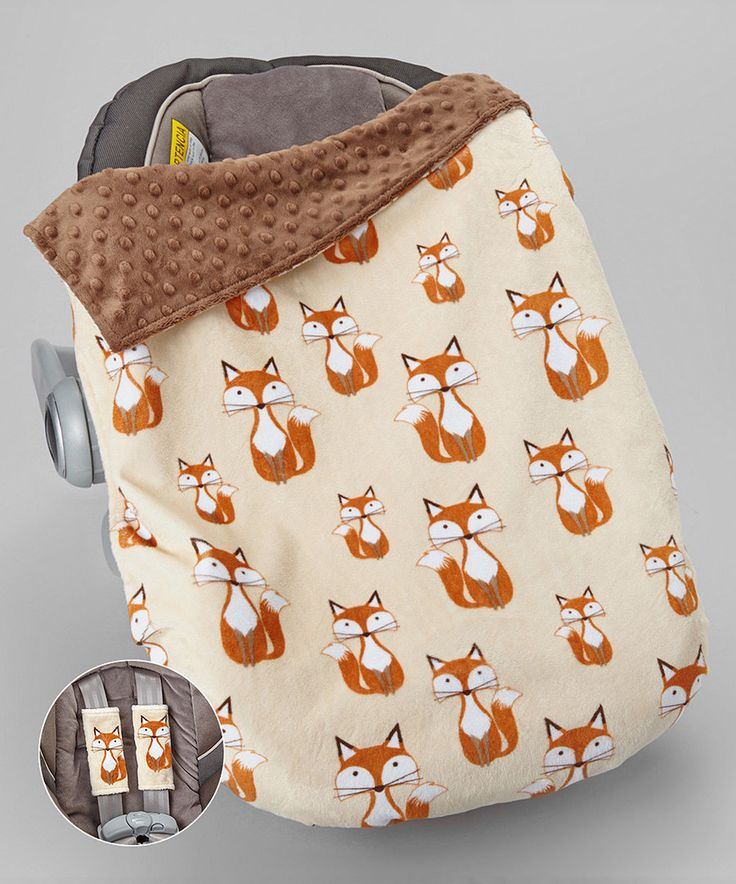 Look at this Lolly Gags Beige Fox Car Seat Blanket & Reversible Car Seat Strap Covers on #zulily today!