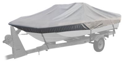 """Bass Pro Shops Select Fit Hurricane Boat Covers for Tri-Hulls with Outboard - Gray - 96"""" x 17'6"""" - 18'5"""""""