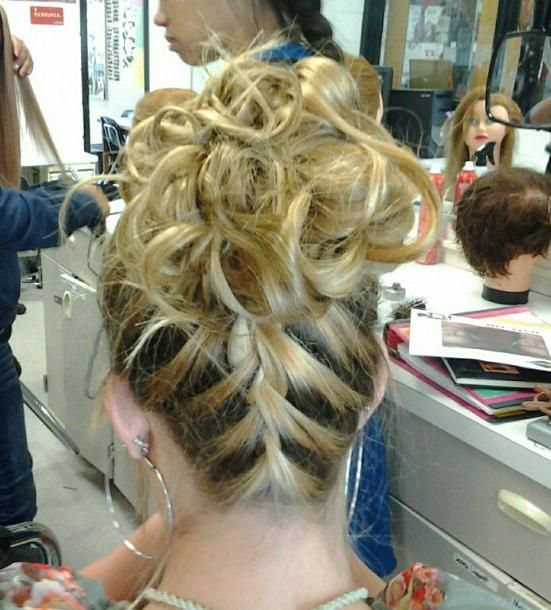 french braid wedding updo
