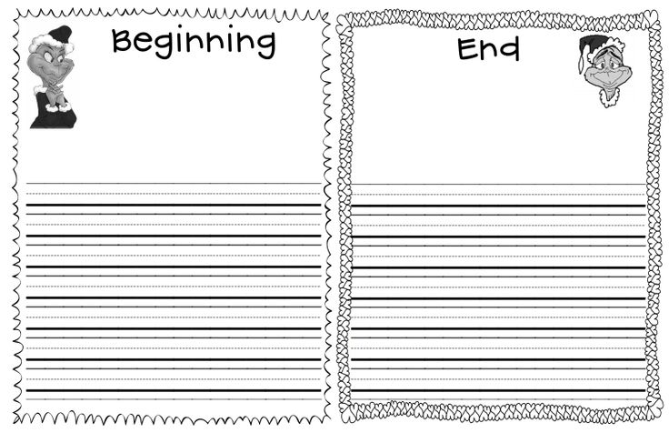 Traditions Christmas Writing Template
