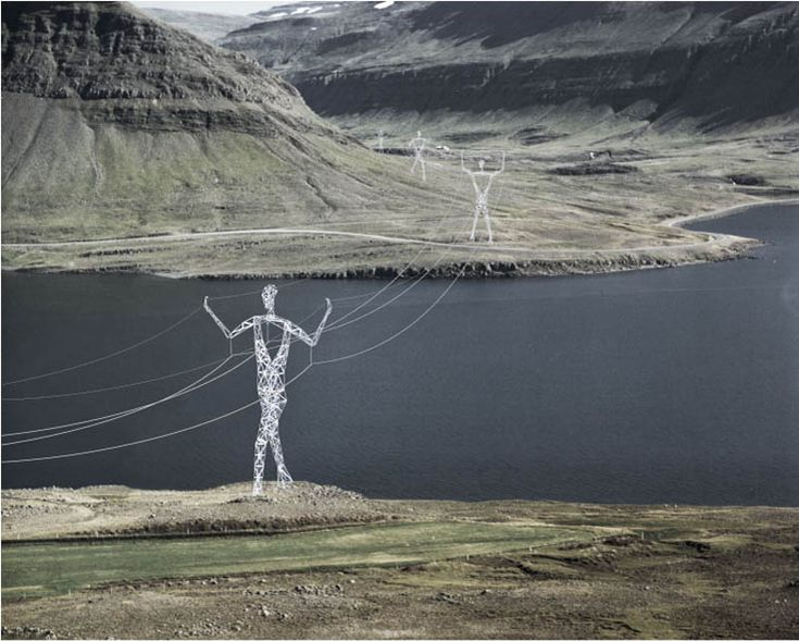 Power transmission towers that look like giant human figures | Terry*