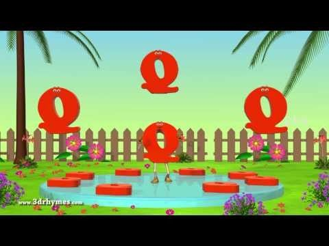 Letter Q Song | 3D Animation | Learning English Alphabet ABC Songs | Songs For children | Funable and Interesting.