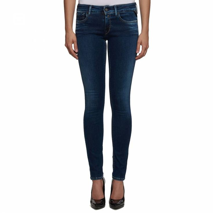 Indigo Cotton Stretch Skinny Stretch Jeans - Replay Women - Private sales - BrandAlley