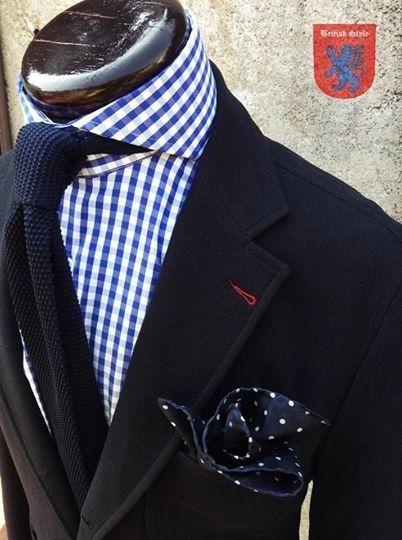 Gingham-Dots-Knit Tie #suit