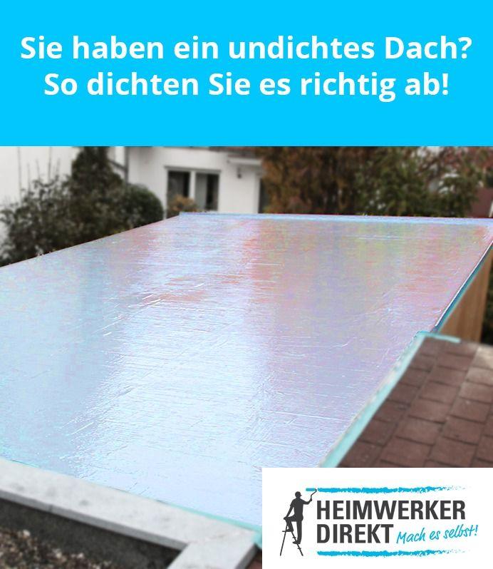Undichtes Dach Balkon Oder Carport So Dichten Sie Es Schnell Wieder Ab Dach Garage Dach Dachsanierung
