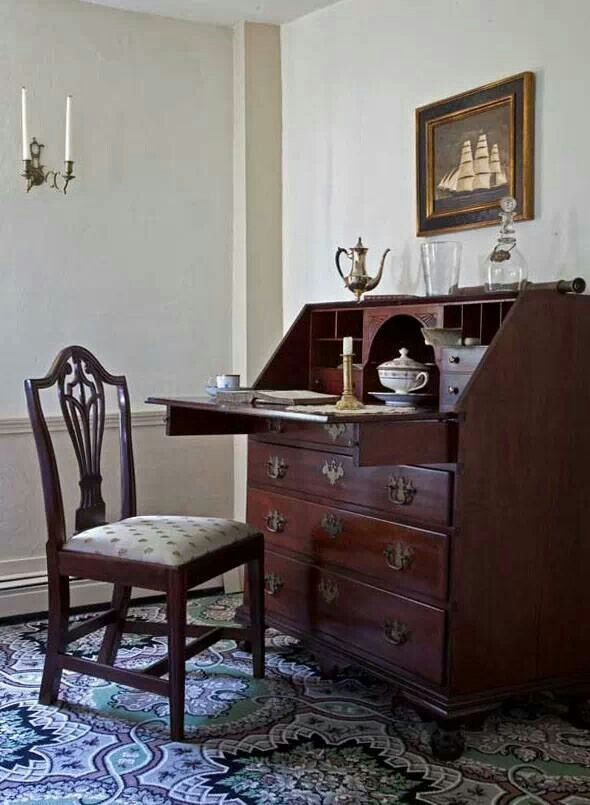 colonial furniture country furniture country living decor colonial decorating front desk office desks 18th century in style beacon hill queen anne