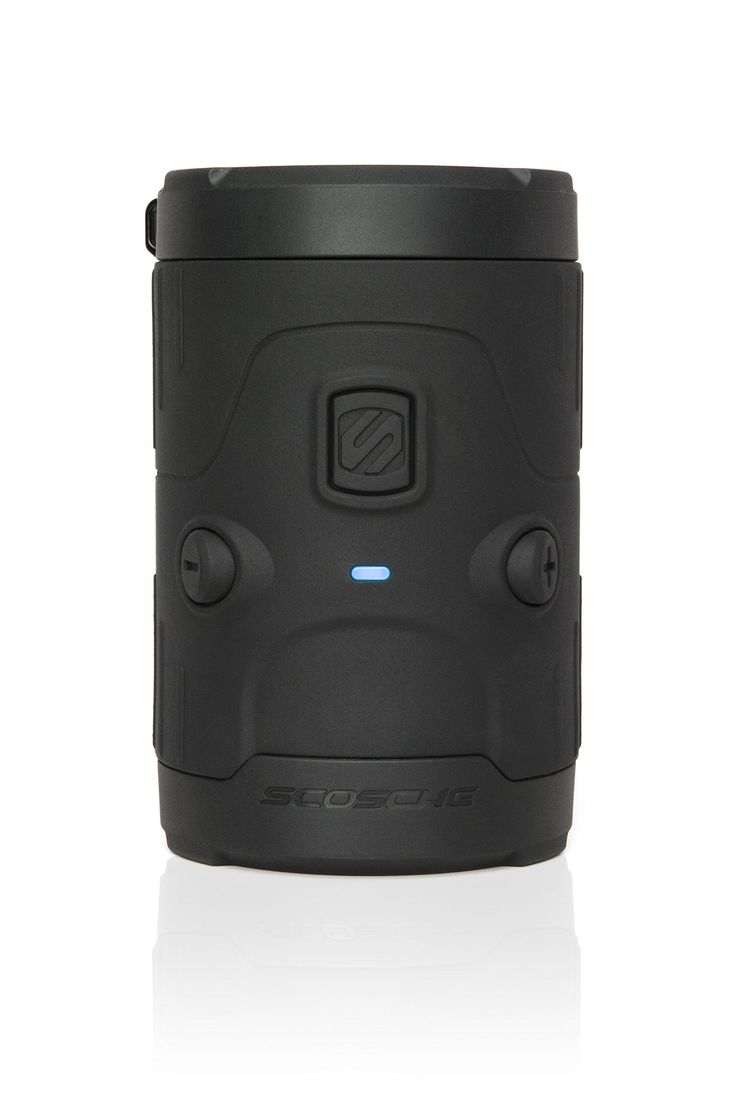 boomBOTTLE H2O Bluetooth Wireless Speaker Black. Play It Loud! - Powerful 50mm up-firing speaker and passive subwoofer produce impressive clear audio and improved acoustics. The up-firing speaker sends music in all directions and includes a protective speaker grill and shock absorbing speaker cap. A rechargeable lithium polymer battery provides up to 11 hours of continuous music playback. Use the micro USB cable (included) to easily charge the boomBOTTLETM H2O portable speaker. Easily...