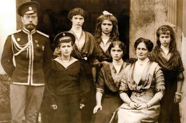 Nicholas II and Alexandra with their children