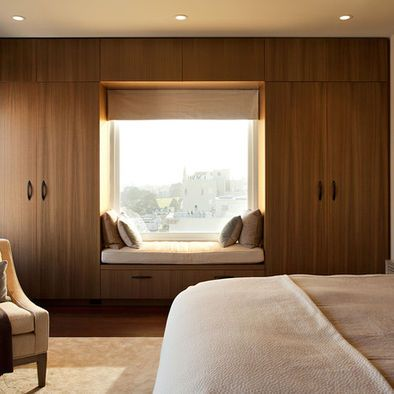 surrounding a low window (seat) with tall cabinetry Modern Bedroom Bunk Beds Design, Pictures, Remodel, Decor and Ideas - page 32