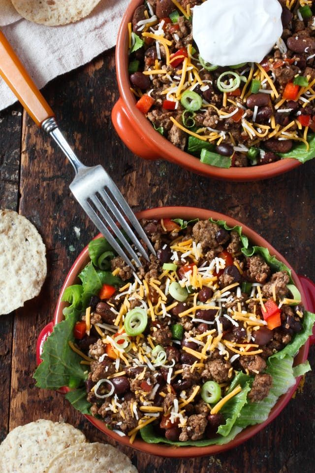 """This is not your greasy taco salad of yesteryear — in fact, there's no ranch dressing powder or """"taco seasoning packets"""" in sight. Just a few pantry ingredients come together for a flavorful (and fast!) weeknight dinner the whole family is sure to love."""