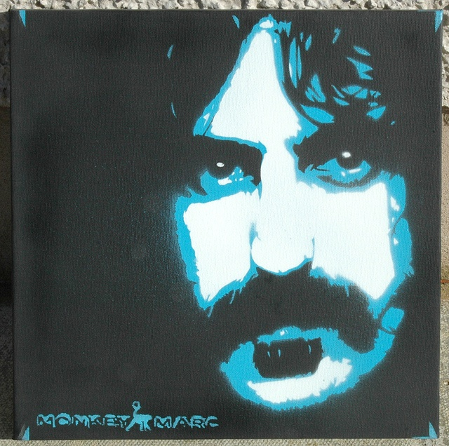 Frank Zappa Stencil by Down Right Punch, via Flickr